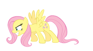 Bad Fluttershy by AmethystHorn