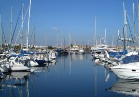 Boats in Larnaca marina by erene