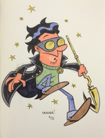 JACK KNIGHT (aka STARMAN) commission by thecheckeredman