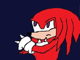 Knuckles Echidna Digitally Colored by Bluesplendont