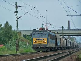 V63 008 with goods train in Gyor by morpheus880223