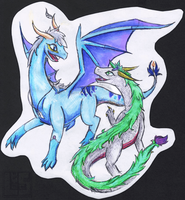 Xeo and Zygrax by Lugia-sea