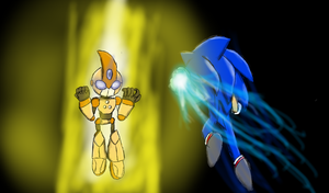 Sonic vs. Emerl by FrostAssassin