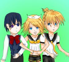 Ciel and The Kagamines by chibirini1