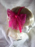 pink lace ribbon by WildRoseWorkshop