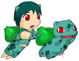 Pokekids -- Bulbasaur by Digital-Twilight