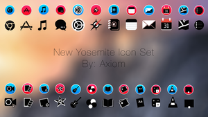 Black And Colorful Yosemite Style Icons by Axiom-Apps