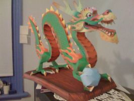 Papercraft: Lucky Dragon by Tsunaide