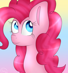 Pinkie Pie {Headshot} by KatieThePonyArtist
