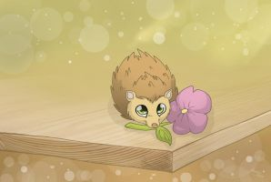 Cute Hedgehog by MySweetQueen