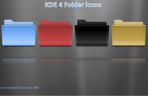 kde 4 folder icons by tonev