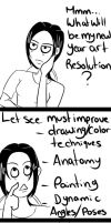 New year art resolution by Hishimy