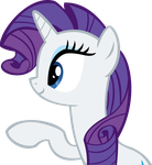 Rarity Vector - 11 Pointing by CyanLightning
