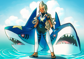 Sharpedo Trainer Kristina by Astral-Requin