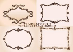 Vintage Frame Brushes by Miss-deviantE