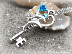 Aqua Dolphin Key- Available April 3rd by ArtByStarlaMoore