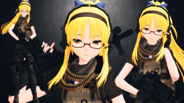 [MMD] Alphonsine Lapointe (updated) by AbyssLeo