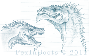 Dragon heads by FoxInBoots