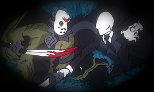 SLENDERMAN VS JASON by Ninjaspartankx5