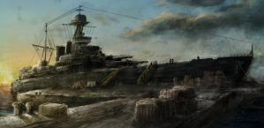 HMS Hood overpaint 2 by Nick-Foreman