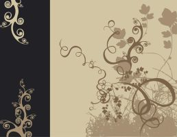vectorized floral design by attikatona