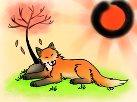 Okami Styled Fox by DOLFIY