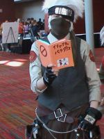 Steampunk Kakashi reading by Zeke-Fate