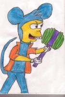 Bart as Itchy by sideshowbobfanatic
