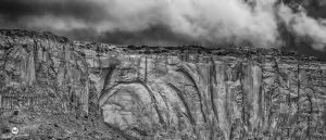 Carved Red Cliffs BW by mjohanson