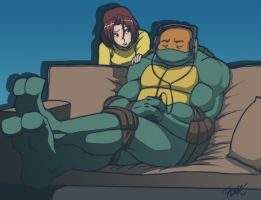 MNT Gaiden: Mikey relaxing by Tigerfog