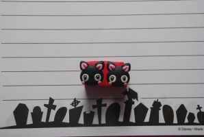 black cats studs by Libellulina