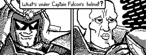 Miiverse. What's under Captain Falcon's Helmet. 1 by HipsterAnt