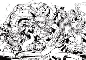 Battle Chaser Inks by JoshTempleton