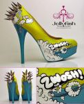 Comic book shoes! by cjames