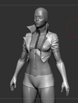 sculpting cloth folds practice by Reyknow