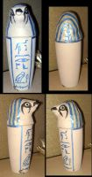 Horus Canopic Jar by witchcraftywolfen