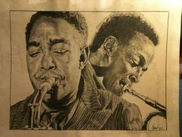 Charlie Parker and Miles Davis by Thomas36CF