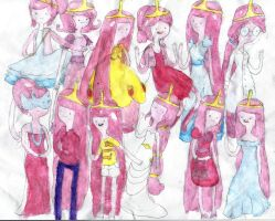 princess bubblegum and her outfits by ginnypotter8D