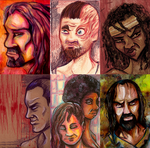 Walking Dead - Character Assortment by lupienne