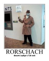 Awesome Cosplayer: Rorschach by MasterRBG