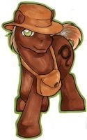 Indiana Jones Pony by clueless-nu