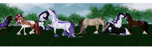 Purple Herd by Astralseed