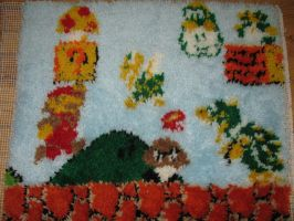 Mario latch hook rug by gfroggy87