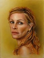 Julia Roberts Golden Grace by MohaniRose
