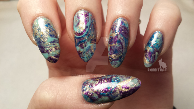 Stone watermarble in the light box by rabbithat8