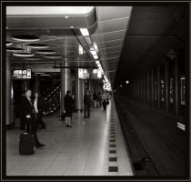 Airport trainstation.. by Wavecut