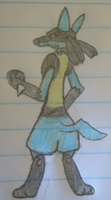 Lucario Pose num.1 by MikeGTS