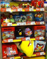 Angry Birds merchandise at toy store by Gallade007