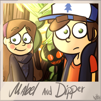 Mabel and Dipper by La-Frugele