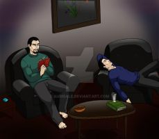 Two Brothers' Night In by aurigale